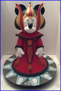 2008 Disney Star Wars Minnie Mouse as Queen Amidala Big Fig Statue Figurine WDW