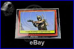 2015 Star Wars Celebration Topps EXCLUSIVE Vintage 9 Card Set LE100 5x7 RARE
