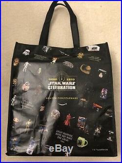 2019 STAR WARS CELEBRATION Funko Pop Blue Chrome Full Set with Tote Bag