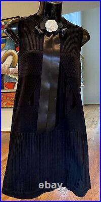 $4k CHANEL 2016 Celeb DIAMOND Mini Crochet 34 36 38 2 4 6 Black DRESS Shirt Top