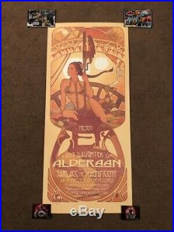 Adam Hughes Princess Leia Slave Fine Art Print Lithograph Star Wars Poster Jabba