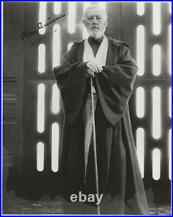 Alec Guinness SIGNED 8x10 B&W Photo Obi Wan Kenobi Star Wars MUST SEE