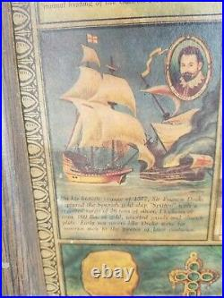 Antique Florida And The Caribbean Pirates Treasure Map Extremely Rare