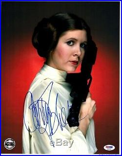 CARRIE FISHER Signed LEIA STAR WARS Official Pix 11x14 Photo PSA/DNA #X82457