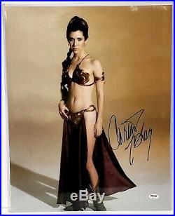 CARRIE FISHER Signed STAR WARS Princess Leia 16x20 Photo PSA/DNA #Z29158
