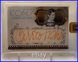 Carrie Fisher Aka Princess Leia Donruss Celebrity Cuts Autograph Auto Card 12/40