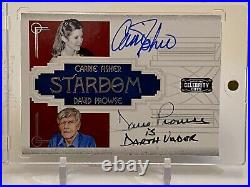 Carrie Fisher David Prowse Mark Hamill & Williams Celebrity Americana Auto Card
