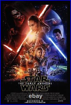 Carrie Fisher Princess Leia Signed 8x12 Photo Star Wars COA