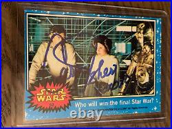 Carrie Fisher Signed Autographed Trading Card AUTO Star Wars Princess Leia
