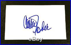 Carrie Fisher Star Wars Actress Signed Autograph 3x5 Index Card Princess Leia