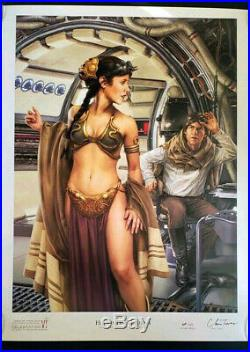 Chris Trevas Star Wars Celebration 18x 24 litho print Signed AP RARE! Last one