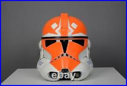 Clone Trooper Helmet 11 Star Wars Ahsoka cosplay, replica, legion, orange
