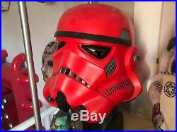 Crimson Stormtrooper Helmet