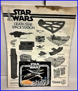 DEATH STAR SPACE STATION Vintage 1977 Kenner Star Wars Toy with box near complete