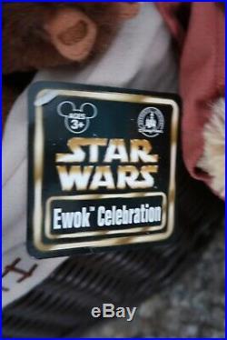 Disney Parks Star Wars Ewok Celebration 6 9 Plush Set LE 1000 NWT Rare