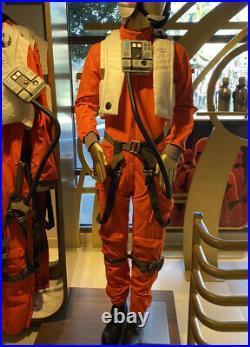 Disney Parks Star Wars Galaxys Edge X-Wing Pilot Flight Suit Cosplay Mens L