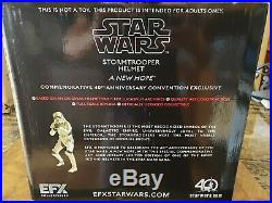 EFX Star Wars Chrome Stormtrooper Helmet 40th Anniversary Celebration