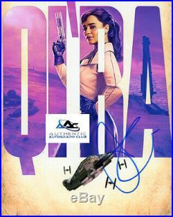 Emilia Clarke Autograph Signed 8x10 Photo Solo A Star Wars Story Qi'ra Rare Coa
