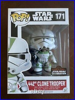 FUNKO POP! #171 442nd Clone Trooper Star Wars Celebration Official Sticker