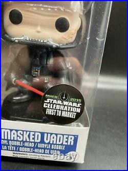 Funko POP! Star Wars Celebration Darth Vader Unmasked #43 First To Market