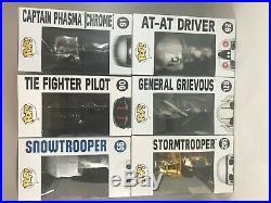 Funko POP! Star Wars General Grievous, Tie Fighter Pilot Chase, Chrome Phasma +