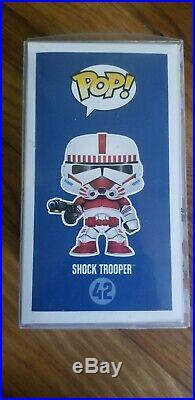 Funko Pop! #42 Star Wars Celebration Exclusive Shock Trooper with Pop Protector