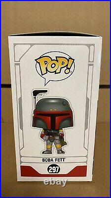 Funko Pop! Boba Fett Blue Chrome 2019 Galactic Convention Exclusive WithSoft Case
