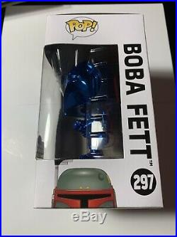 Funko Pop! CLEAN MINT BOX Star Wars Celebration Exclusive Boba Fett Blue Chrome