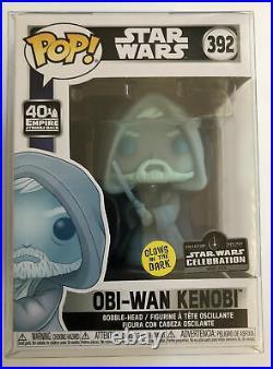 Funko Pop Obi-Wan Kenobi #392 GITD Star Wars Celebration LE 3000