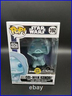 Funko Pop! STAR WARS Obi Wan Kenobi Glow In The Dark LE3000 IN HAND