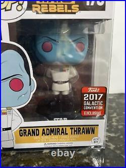 Funko Pop SW Rebels Grand Admiral Thrawn #170 2017 Galactic Con Exclusive + Case