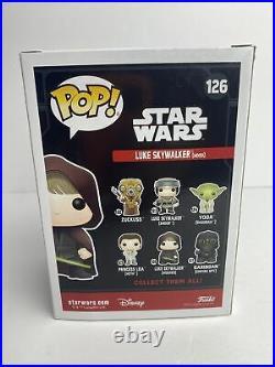 Funko Pop! Star Wars #126 Luke Skywalker (Hood) 2017 Galactic Con. WithProtector