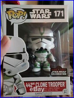 Funko Pop Star Wars 442nd Clone Trooper #171 Star Wars Celebration Sticker