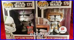 Funko Pop Star Wars 442nd Clone Trooper & Clone Commander Cody NON MINT