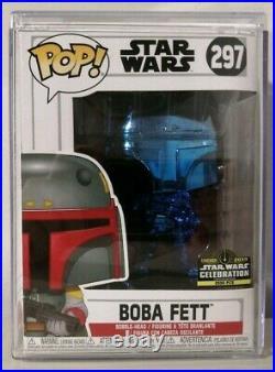 Funko Pop! Star Wars BOBA FETT #297 Blue Chrome Chicago Celebration 2019