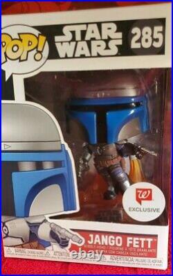 Funko Pop Star Wars Jango Fett #285 Walgreens Exclusive + Protector SHIPFAST