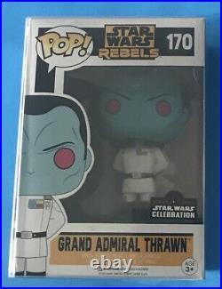 Funko Pop Star Wars Rebels Grand Admiral Thrawn #170 Celebration Sticker