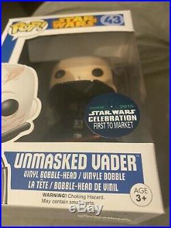 Funko Pop Star Wars Unmasked Vader 43 Star Wars Celebration First To Market