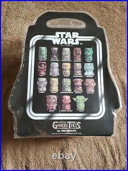 Geeki Tiki Star Wars 18 PC Mini Muglets Set New, Never Used Limited Edition