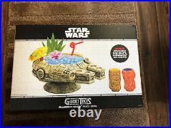 Geeki Tiki Star Wars Millennium Falcon Han Solo Chewbacca Tiki Mug Set