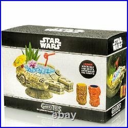 Geeki Tiki Star Wars Millennium Falcon Han Solo Chewbacca Tiki Mug Set Preorder
