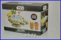 Geeki Tiki Star Wars Millennium Falcon Han Solo Chewbacca Tiki Mug Set Sealed