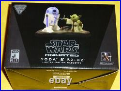 Gentle Giant Star Wars Yoda & R2-D2 Animated Maquette 2007 Exclusive New Sealed
