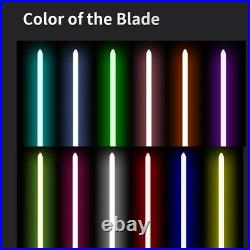 Hot Star Wars Luke Skywalker Lightsaber Silver Metal 12 Colors RGB Light Replica