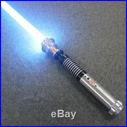 Hot Star Wars Luke Skywalker Lightsaber Silver Metal 16 Colors RGB Light Replica