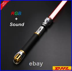 Hot Star Wars X-Lotus Lightsaber Metal 12 Colors RGB Light Replica Smooth Swing