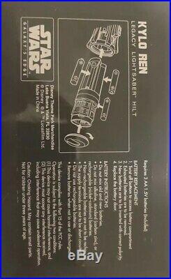 Kylo Ren Legacy Lightsaber Galaxys Edge hilt