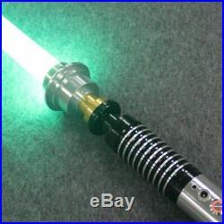 Luke Star Wars Lightsaber Jedi Cosplay RGB 16 LED Colors Dueling Metal Handle FX