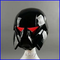 Mandalorian Dark Trooper Helmet With LED Eyes Star Wars Helmet Mask Cosplay Prop