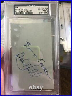 Mark Hamill Star Wars Signed Autograph PSA DNA CERTIFIED AUTHENTIC Cut Autograph